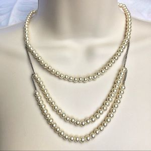 BR Pearly Chain Necklace